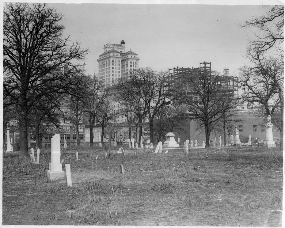 Old Masonic and Odd Fellows Cemetery (date unknown). Eleanor Russell was buried here in 1890.