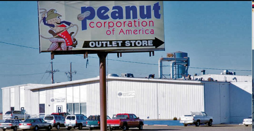 This Feb. 3, 2009, file photo shows the PeanutCorporation of America processing plant in Plainview, Texas, that voluntarily suspended operations, Tuesday, Feb. 10, 2009, while state and federal health officials complete an investigation into procedures and food safety records there. Peanut Corp. closed its Blakely, Ga., plant last month after federal investigators identified it as the source of the salmonella outbreak. The Centers for Disease Control and Prevention reported Tuesday that the number of cases linked to the current outbreak has reached 600 with the number of affected states at 44. It may also have contributed to eight deaths. (AP Photo/Plainview Daily Herald/Richard Porter)