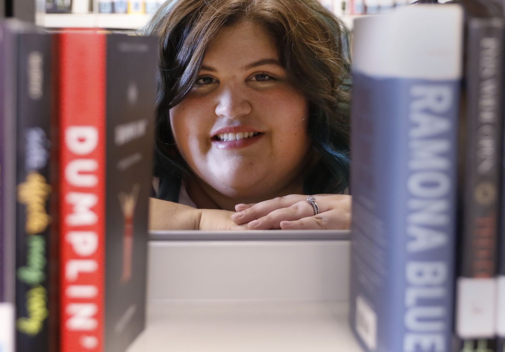 Julie Murphy, the author of 'Dumplin,'' poses for a portrait at the South Irving Library on Wednesday, June 14, 2017.
