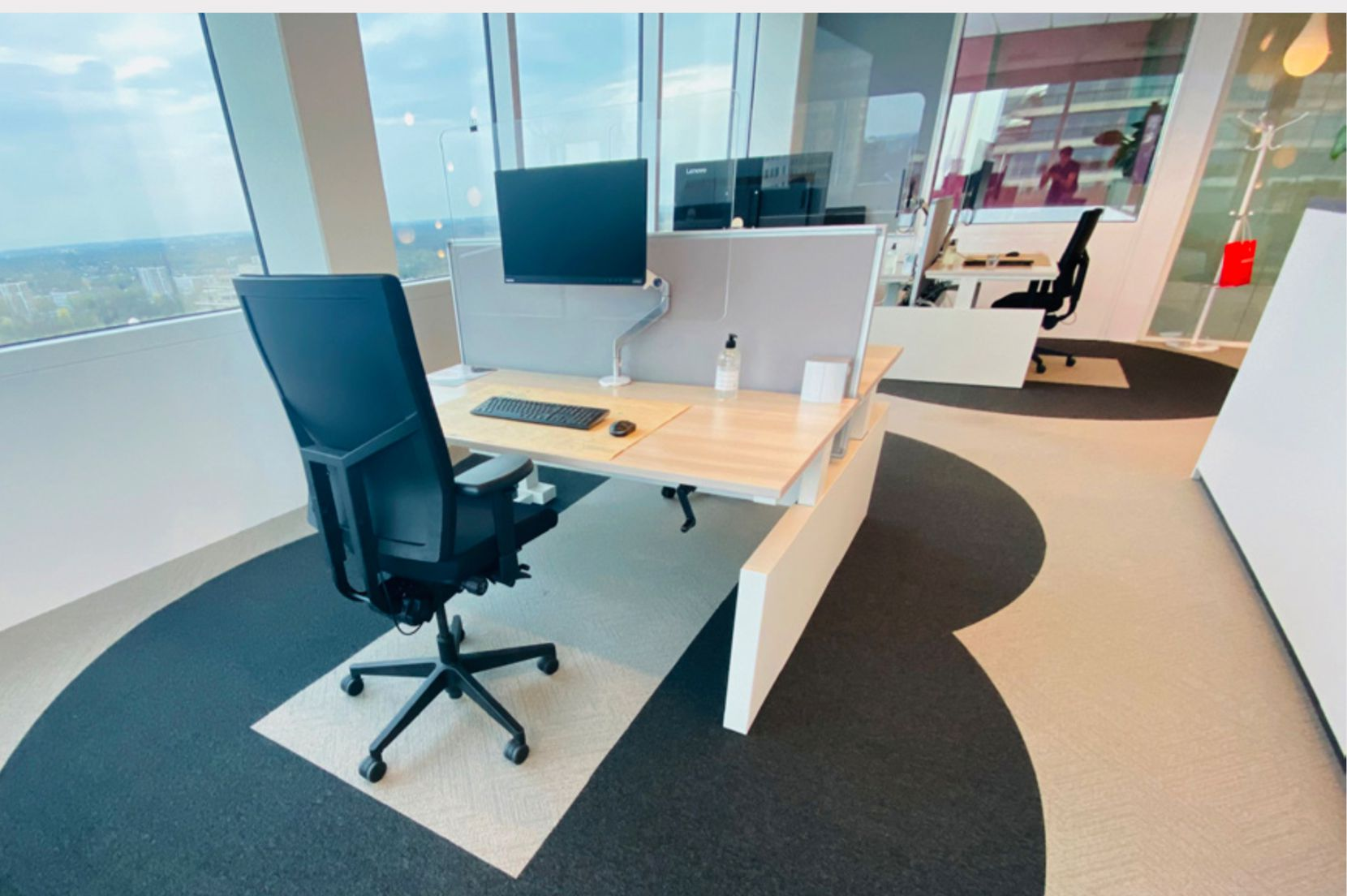 Less dense and more separated workstations will be needed to make workers more comfortable because of COVID-19.