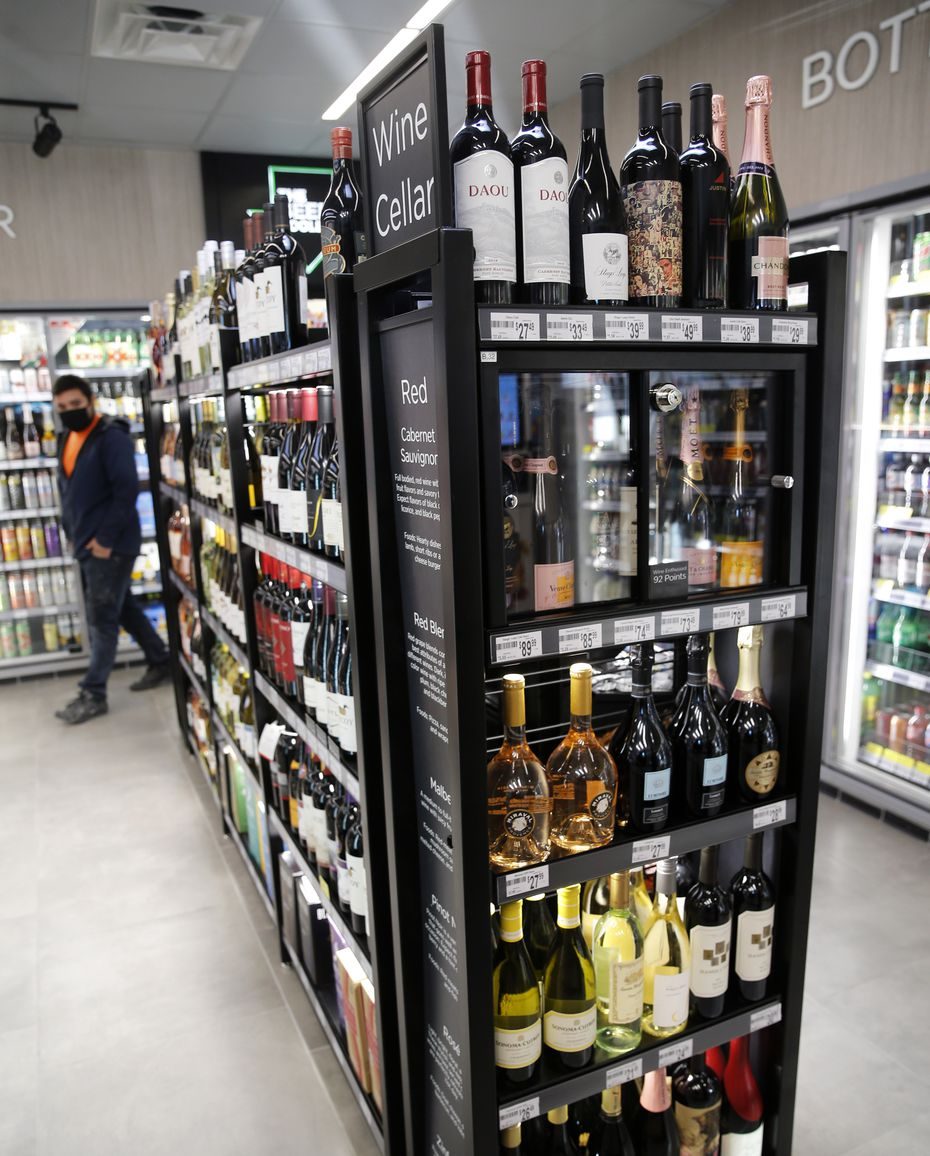 Wine and beer selections at the new Lake Highlands 7-Eleven include several brands not typically found in a convenience store.