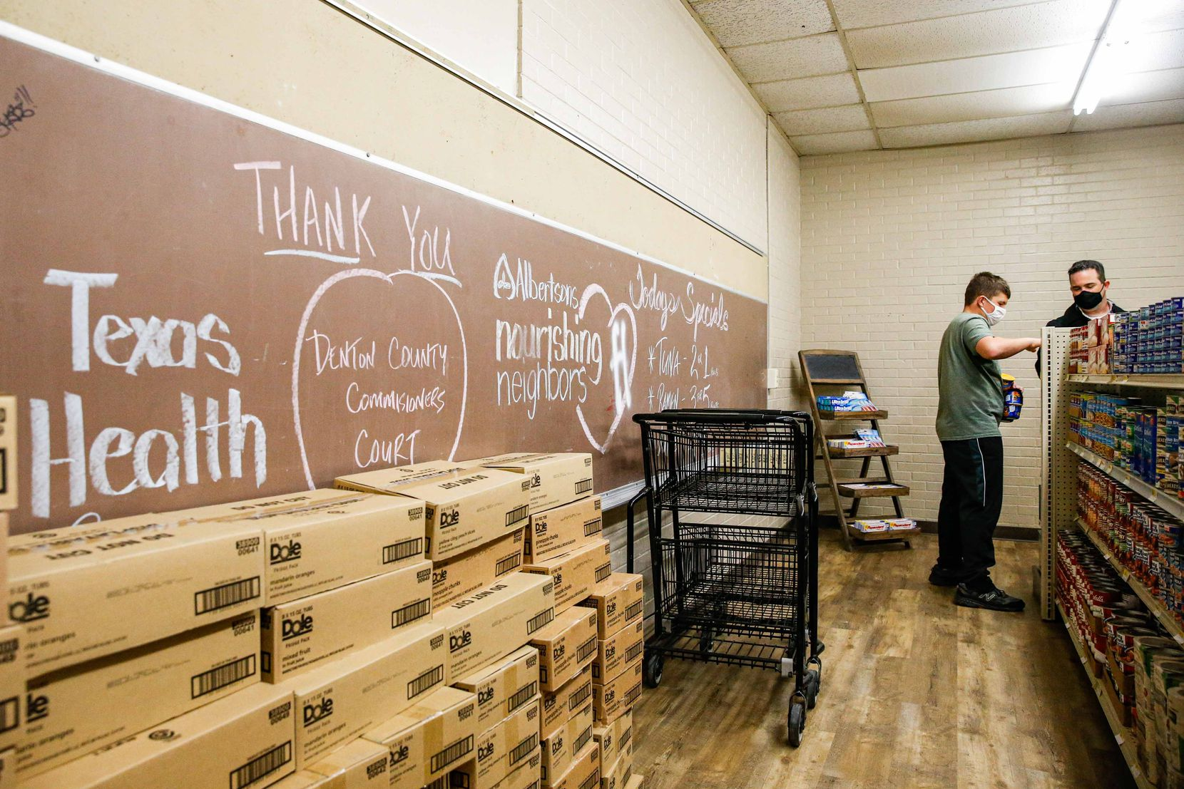 The grocery store doesn't accept cash. Students can earn points to cash in through good deeds, such as recycling.
