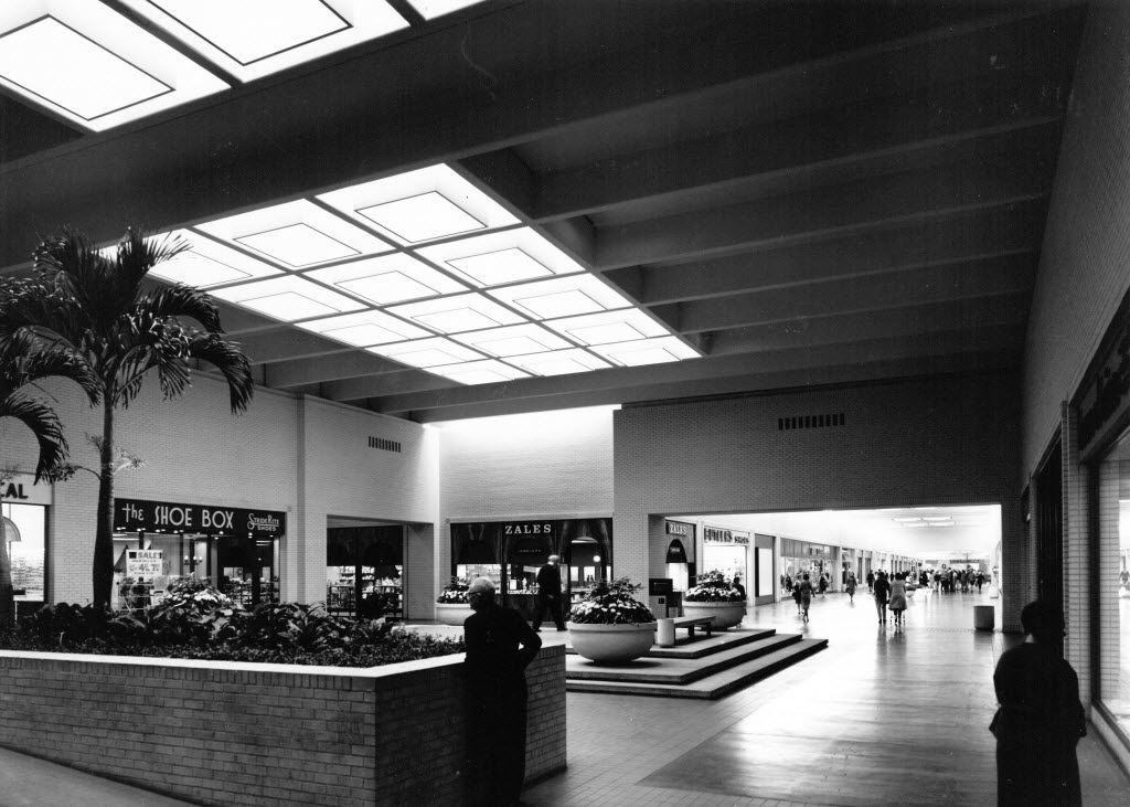 A 1960s photograph of the interior of NorthPark Center