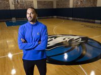 Mavericks GM Nico Harrison poses for a photo on Tuesday, Sept. 21, 2021, at American Airlines Center in Dallas.