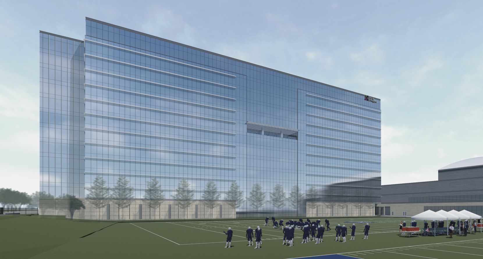 An artist's rendering of Dr Pepper's new Texas headquarters is at the Dallas Cowboys' Star development in Frisco.