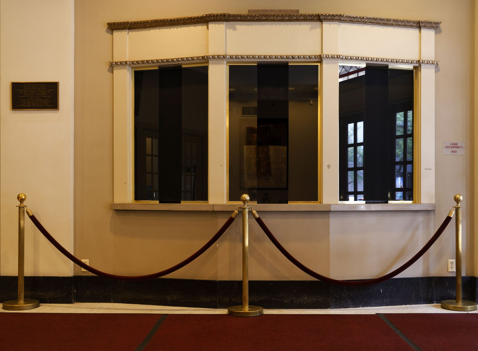 Ticket windows were dark Thursday as the Majestic remained closed.