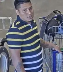 Police released this image of a man suspected of using stolen credit-card info for a $400 shopping spree at Lowe's store in Northwest Dallas on May 9, 2020.