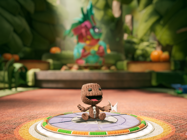 "A screenshot of ""Sackboy: A Big Adventure"" on the PlayStation 5."