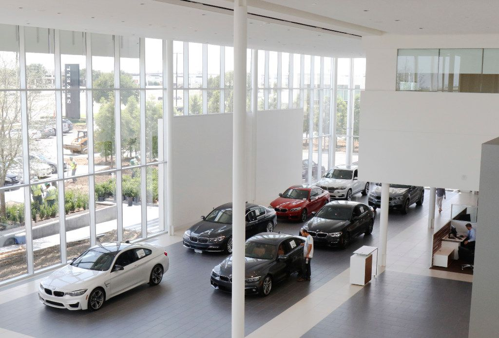Sewell BMW of Grapevine is the largest BMW dealership in Texas. Its two-story showroom showcases 35 of the latest BMW models. (David Woo/The Dallas Morning News)