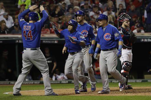 Los Cubs igualaron 3-3 la Serie Mundial ante los Indians. Foto AP