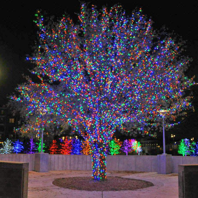 Vitruvian Park celebrates the holidays with a free festive light display in Addison.