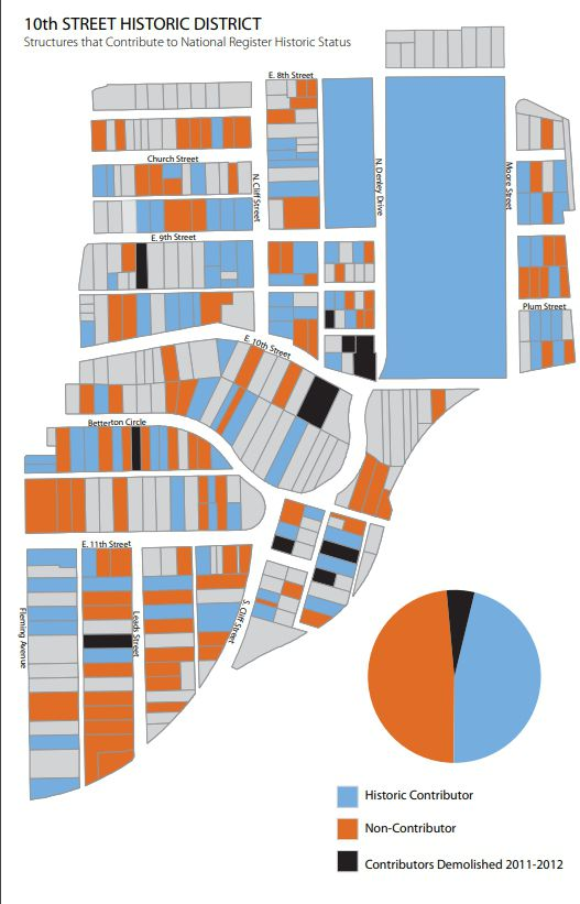 According to the city this is a map of the demolitions in one year alone -- from 2011 to 2012