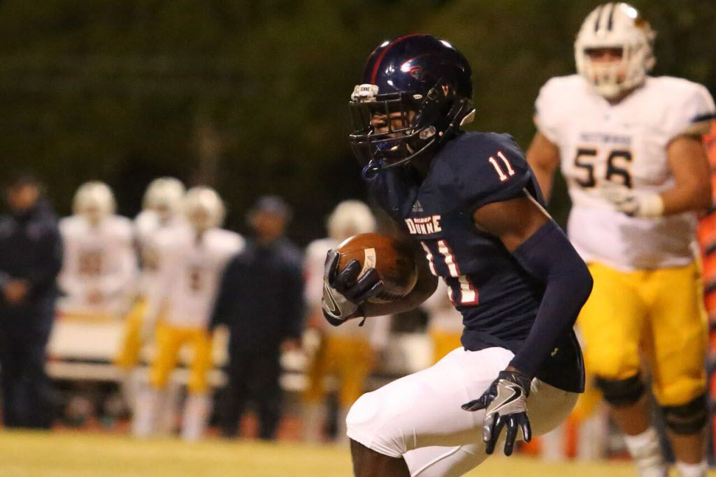 Bishop Dunne safety Brian Williams is The Dallas Morning News' top-ranked recruit in the Dallas area in the Class of 2019. (Courtesy/Bishop Dunne)