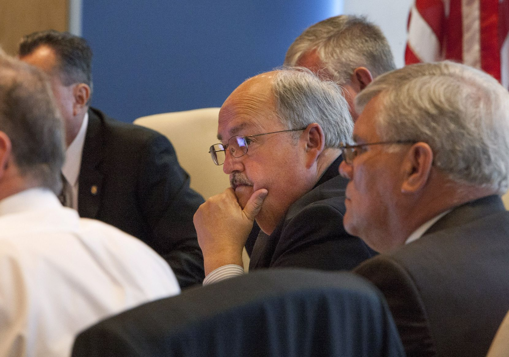 Richard Tettamant, the pension's former stop staffer, at a meeting of the board in 2013.