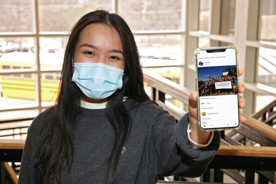 Michelle Nguyen, a junior at Arlington's STEM Academy, is a local winner of the Congressional App Challenge.
