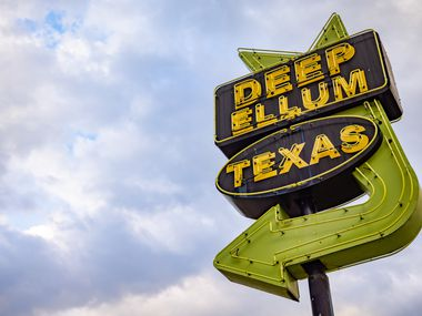The Deep Ellum sign in Dallas photographed on Thursday, Apr. 8, 2021. (Juan Figueroa/ The Dallas Morning News)