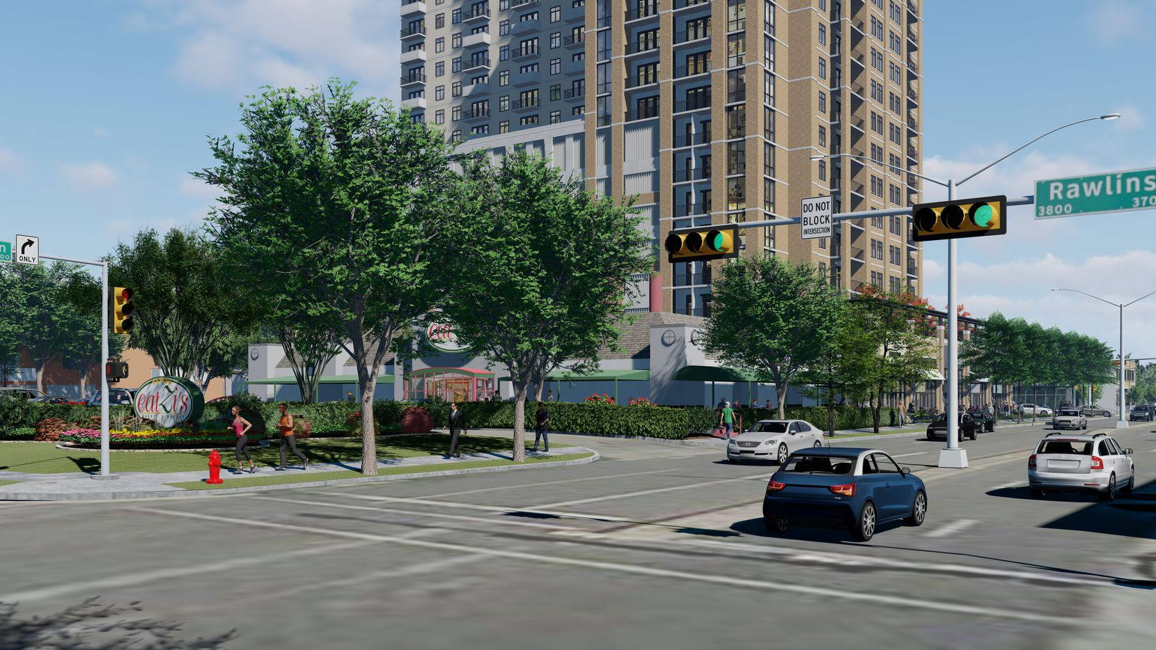 The apartments would be built next door to the Eatzi's on Oak Lawn in Dallas.