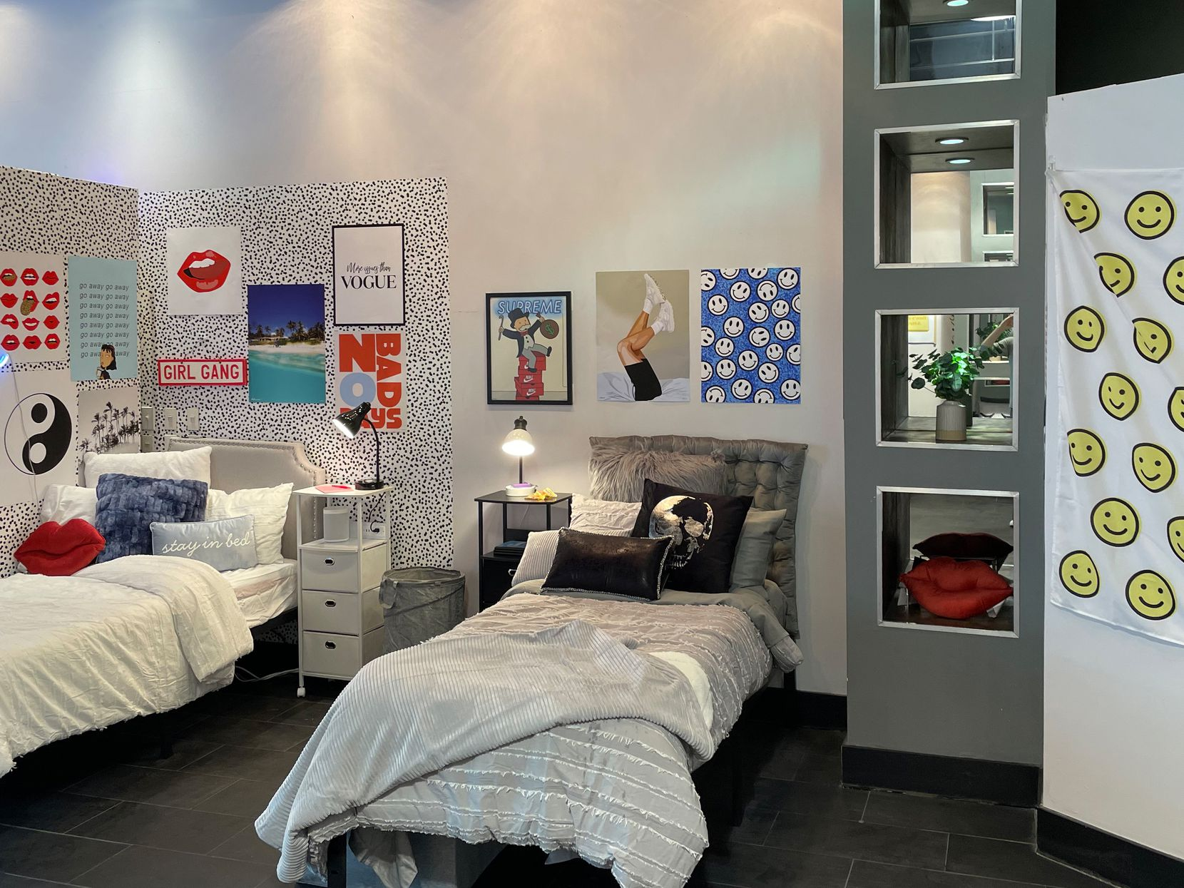 Dormify pop-ups feature several beds that stylists design to match the style of each customer based on an online survey.