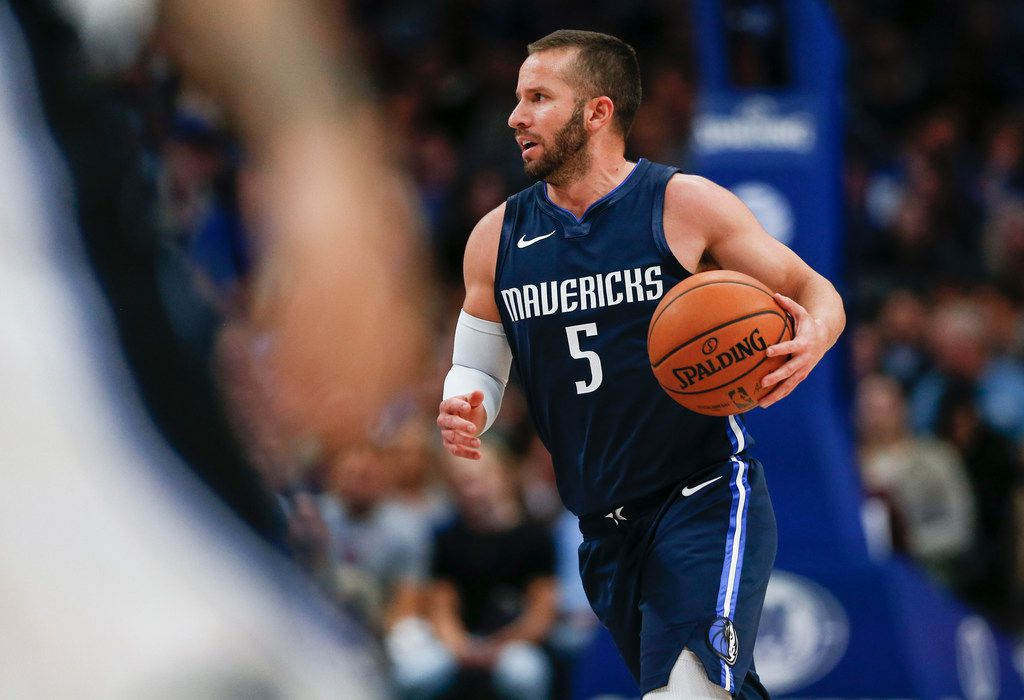 Dallas Mavericks guard J.J. Barea (5) brings the ball down during the second quarter of an NBA game between the Dallas Mavericks and the Orlando Magic on Wednesday, Nov. 6, 2019 at American Airlines Center in Dallas. (Ryan Michalesko/The Dallas Morning News)