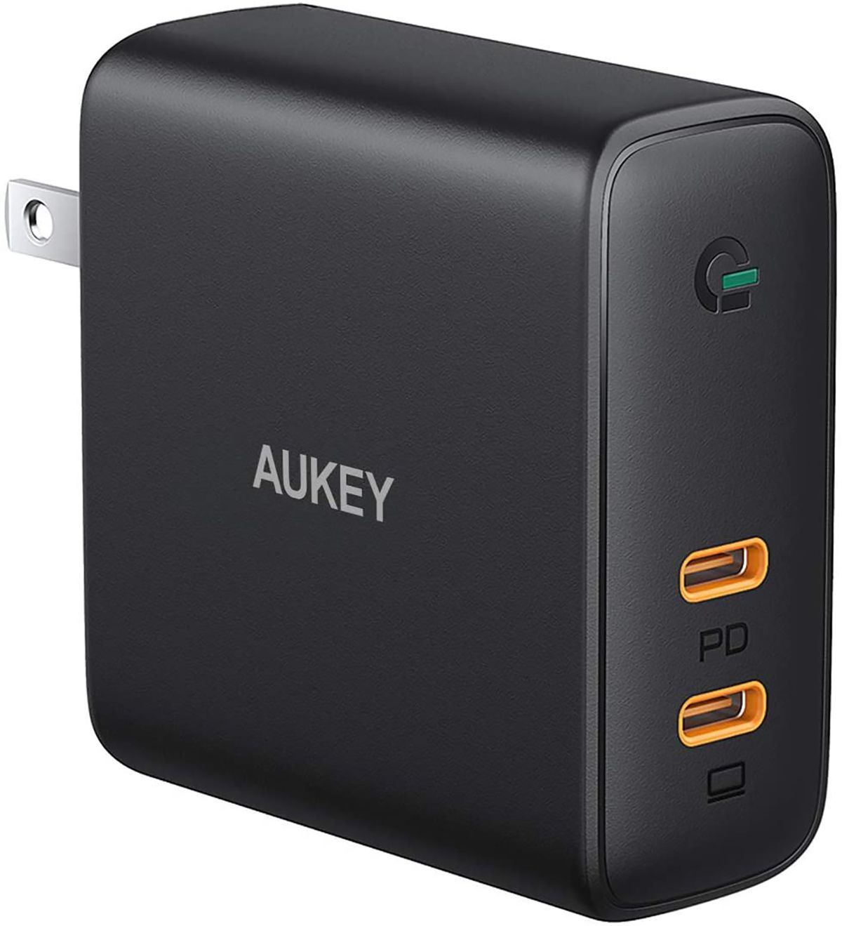 Aukey Omnia 100W 2-port USB-C PD charger with GaNFast technology