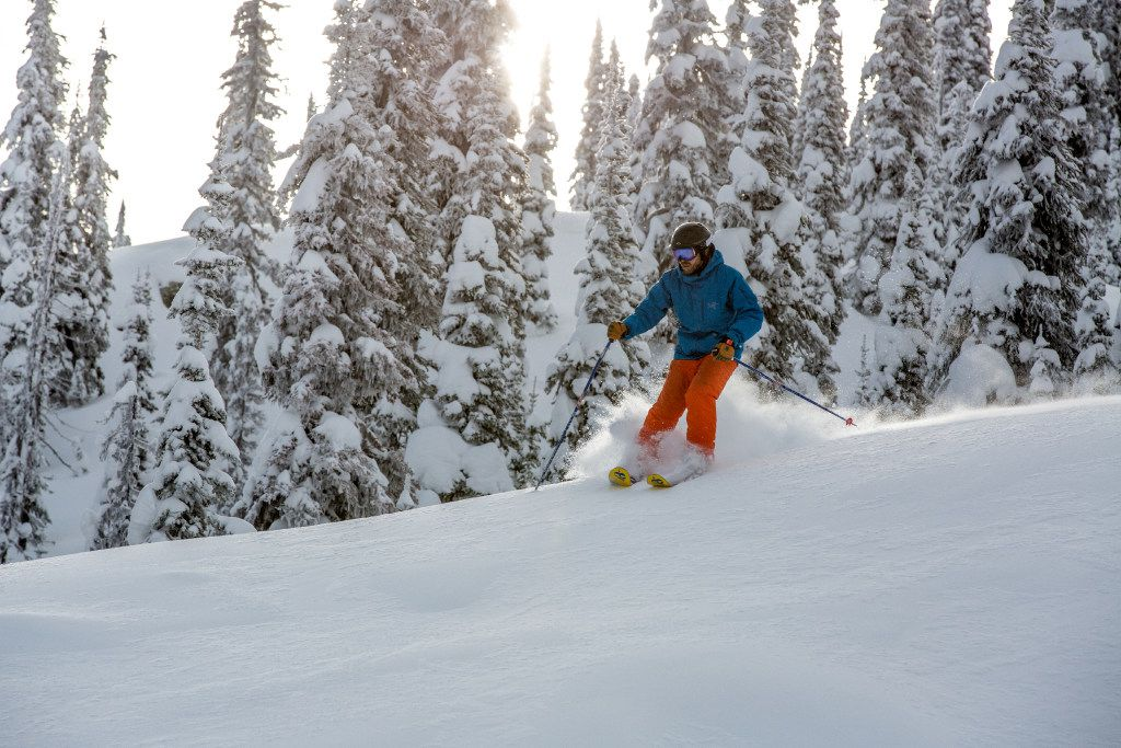 WHITEFISHSKI Skiing the broad powder bowls in the backcountry of Montana s Stillwater State Forest