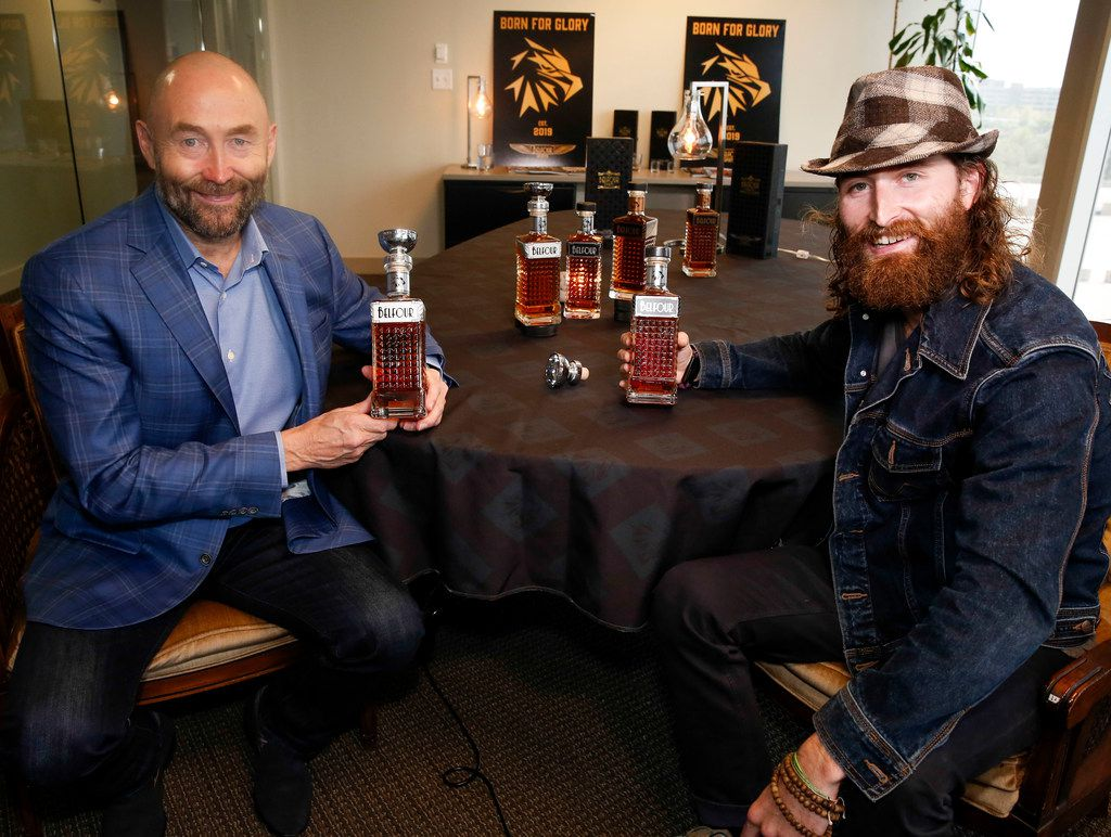 Hockey legend Ed Belfour, left and his son Dayn Belfour were inspired to pursue distilling after watching the TV show 'Moonshiners.'