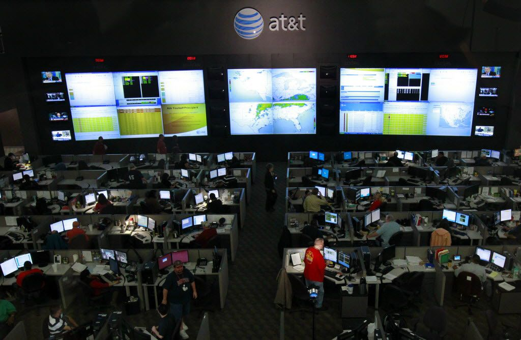 Dallas-based AT&T's local network operations center