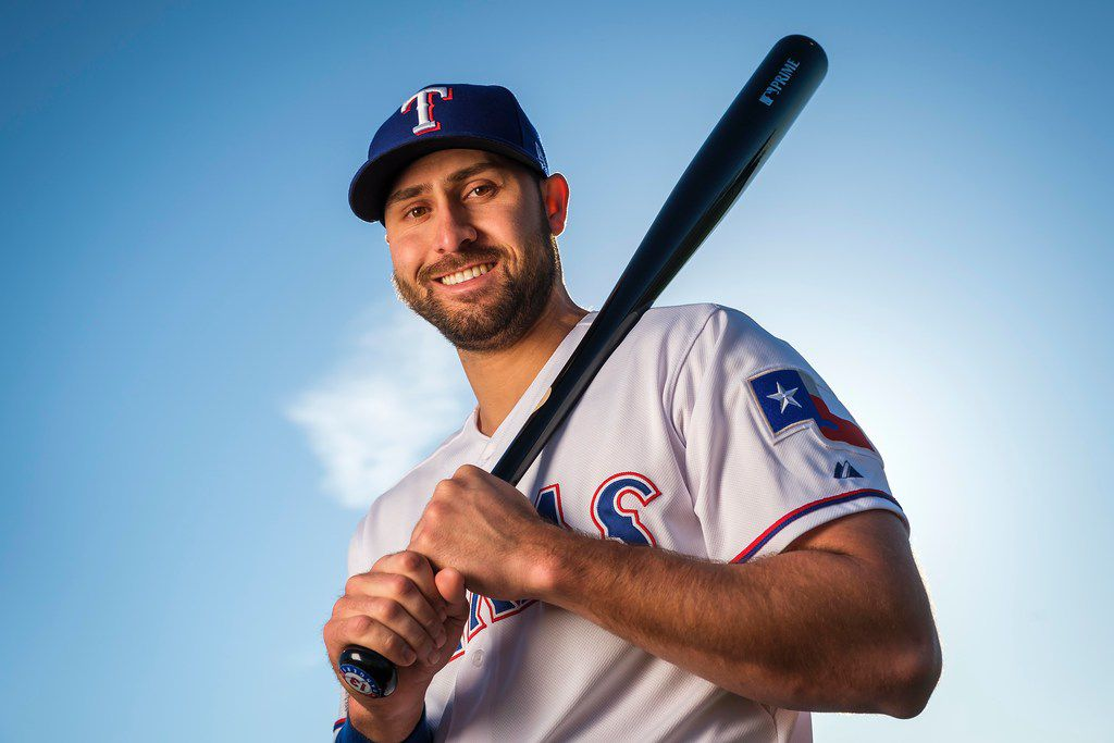 Texas Rangers outfielder Joey Gallo poses for a photograph during spring training photo day at the team's training facility on Wednesday, Feb. 20, 2019, in Surprise, Ariz.. (Smiley N. Pool/The Dallas Morning News)