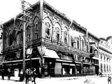 The first Neiman Marcus store opened in downtown Dallas on Sept. 10, 1907.