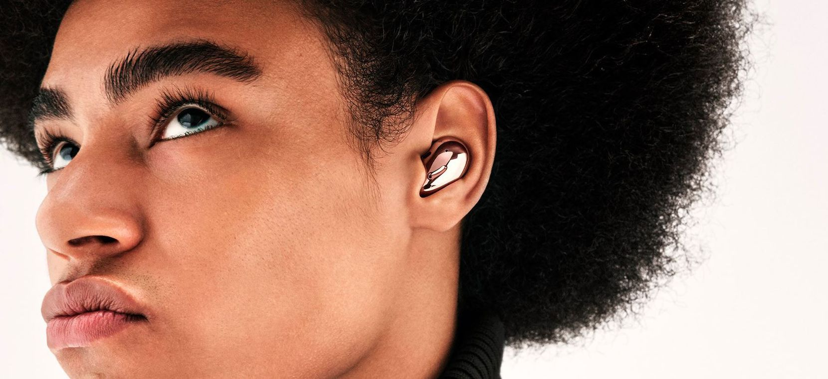 Samsung Galaxy Buds Live stay nestled in your ear.