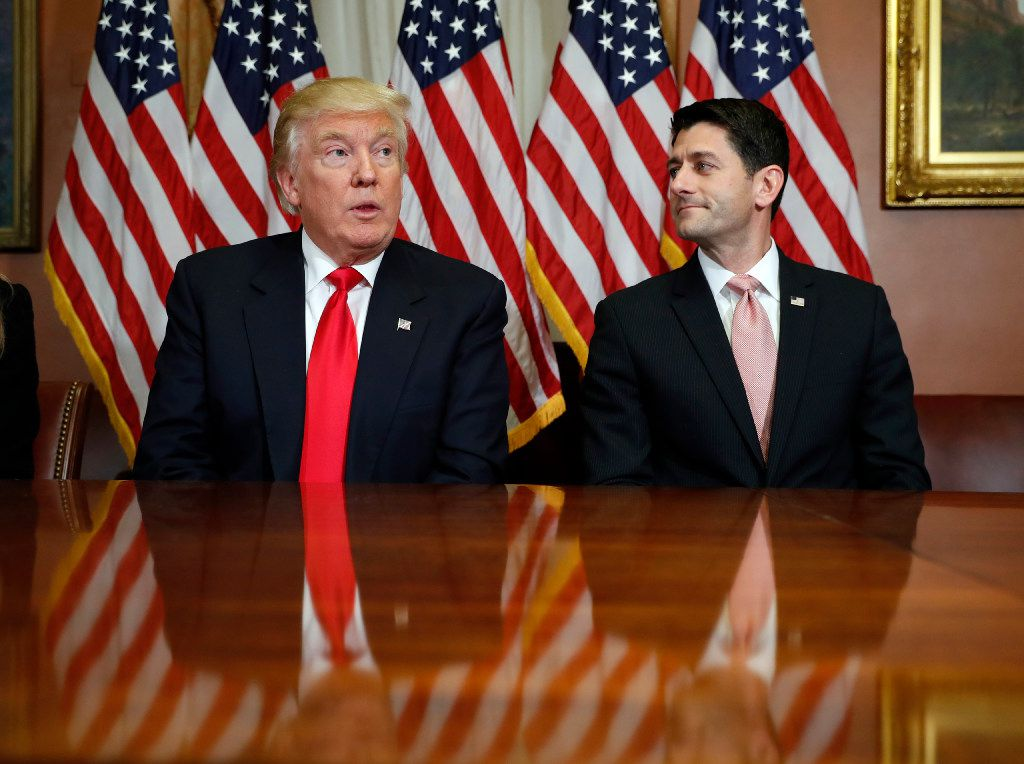 President-elect Donald Trump met with House Speaker Paul Ryan in November. (2016 File Photo/The Associated Press)