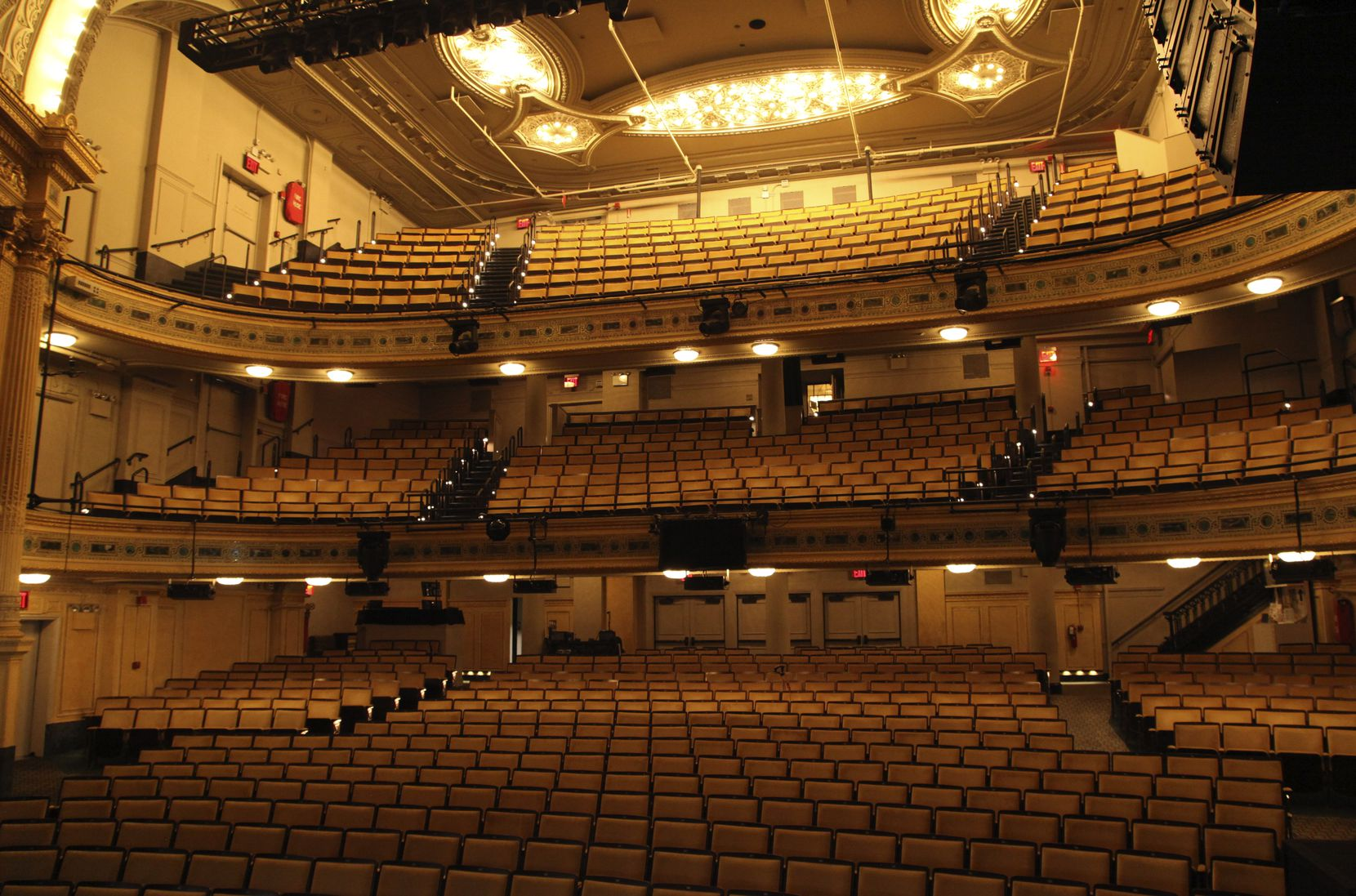 It's not often that visitors to New York can have a Broadway theater all to themselves.