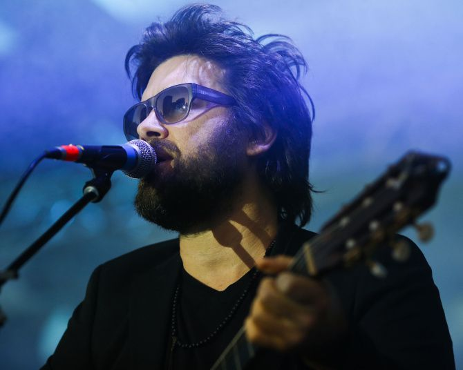 Bob Schneider performs on the main stage at Klyde Warren Park in Dallas on Sunday Oct. 28, 2012.