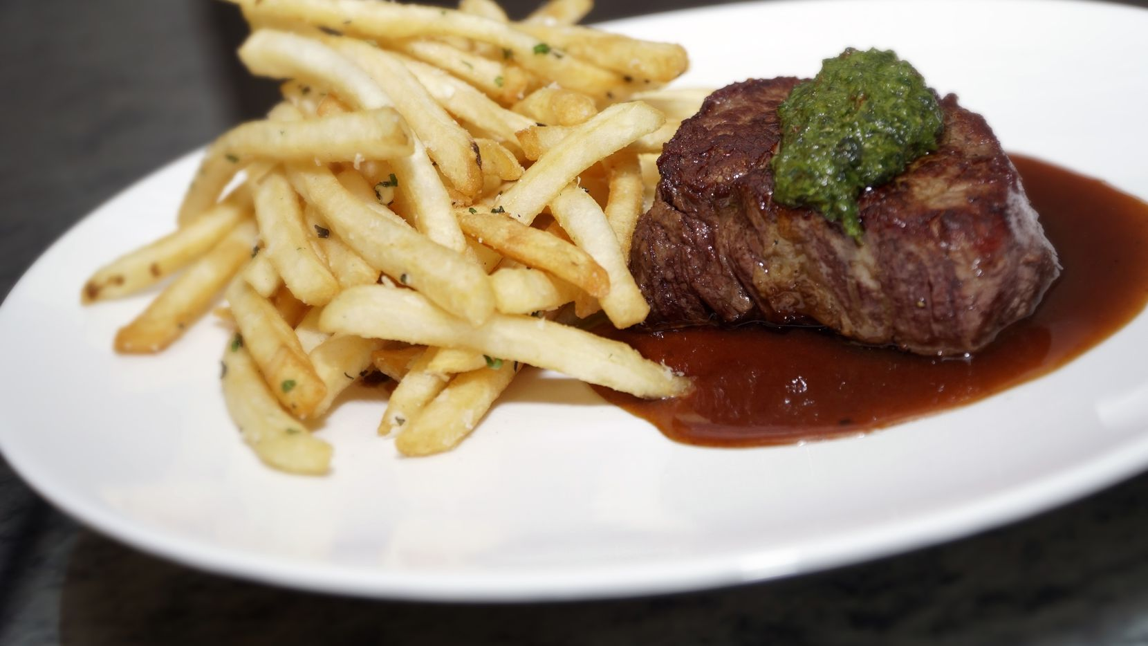 Steak & Frites at Wicked Butcher in the Sinclair Hotel in downtown Fort Worth