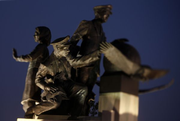 A veteran flight attendant led the charge to create the 9/11 Flight Crew Memorial, located near Dallas/Fort Worth International Airport in Grapevine. The bronze sculpture, which sits atop a block of white Texas limestone, depicts a pilot, a co-pilot and two flight attendants, along with a child who represents the passengers in flight crews' care.