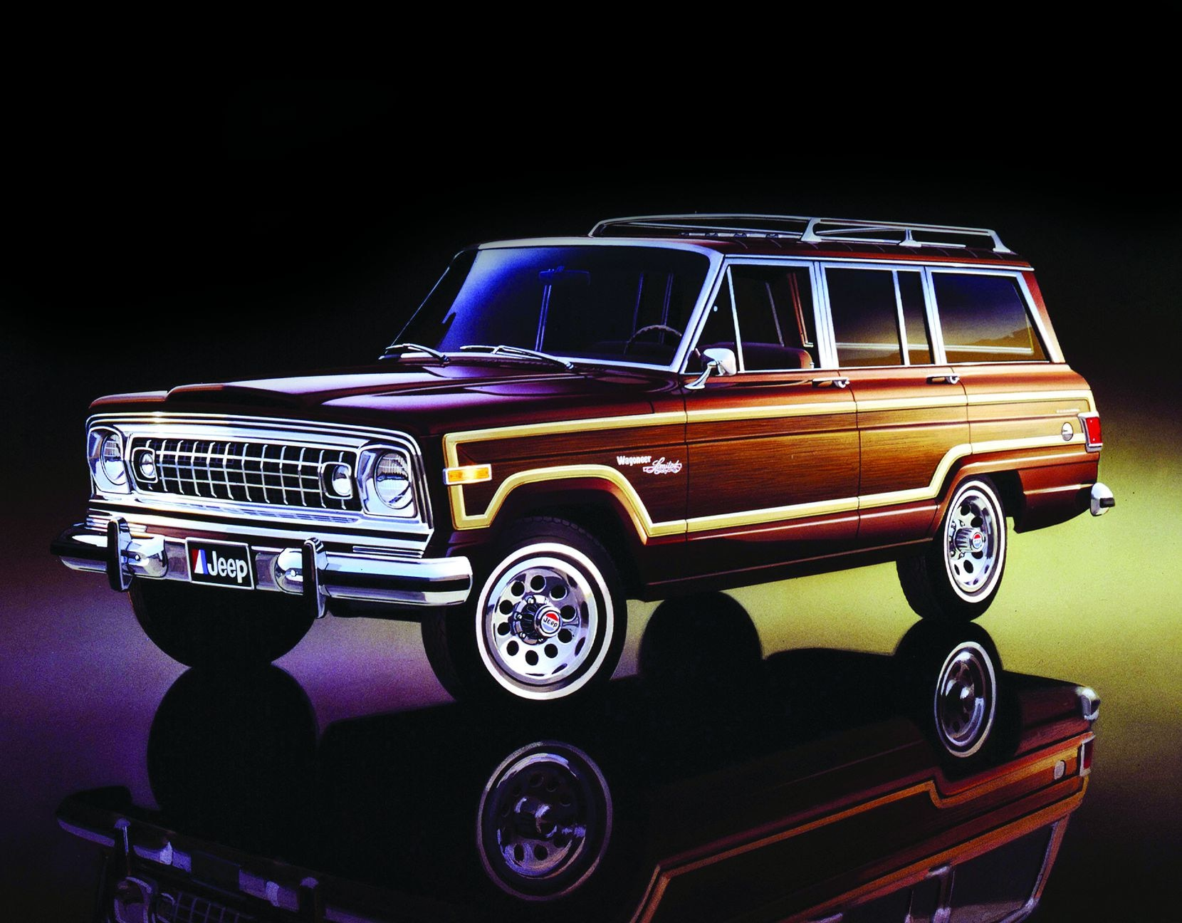 Creative types have long romanticized the Jeep Grand Wagoneer, appreciating the stately shape of vehicles like this 1978 Grand Wagoneer Limited.