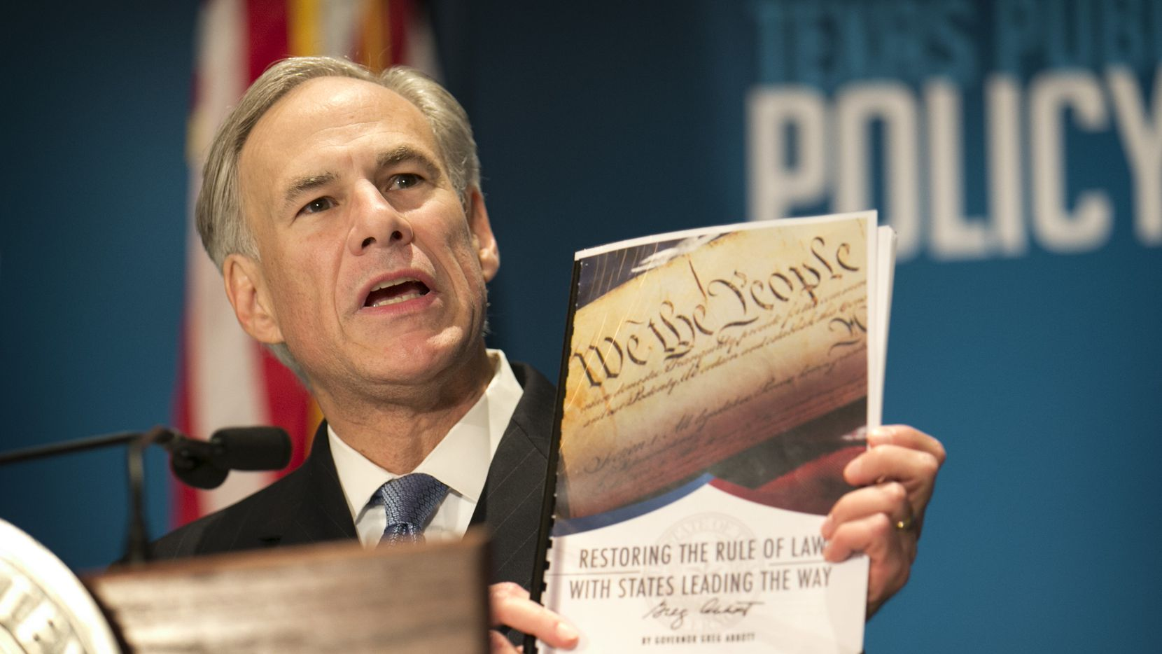 Gov. Greg Abbott called Friday for a convention of states to amend the U.S. Constitution. (Jay Janner/Austin American-Statesman via AP)