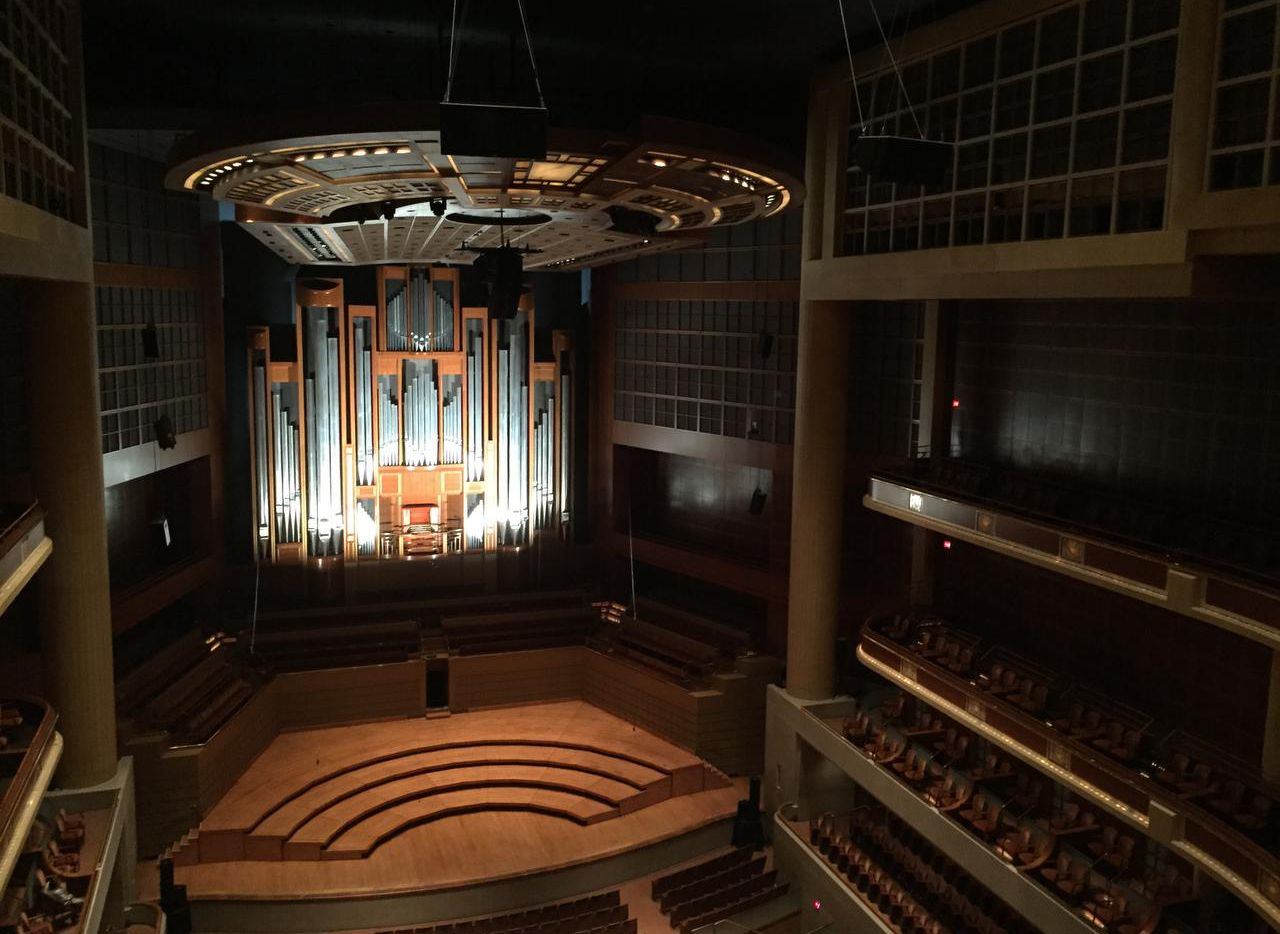 The C.B. Fisk organ in the Meyerson Symphony Center was lighted up for Paul Jacobs' recital Saturday.