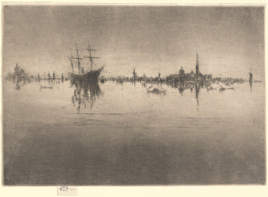 James McNeill Whistler, Nocturne, 1879/1880, etching and drypoint, National Gallery of Art, Washington, Gift of Mr. and Mrs. J. Watson Webb in memory of Mr. and Mrs. H.O. Havemeyer