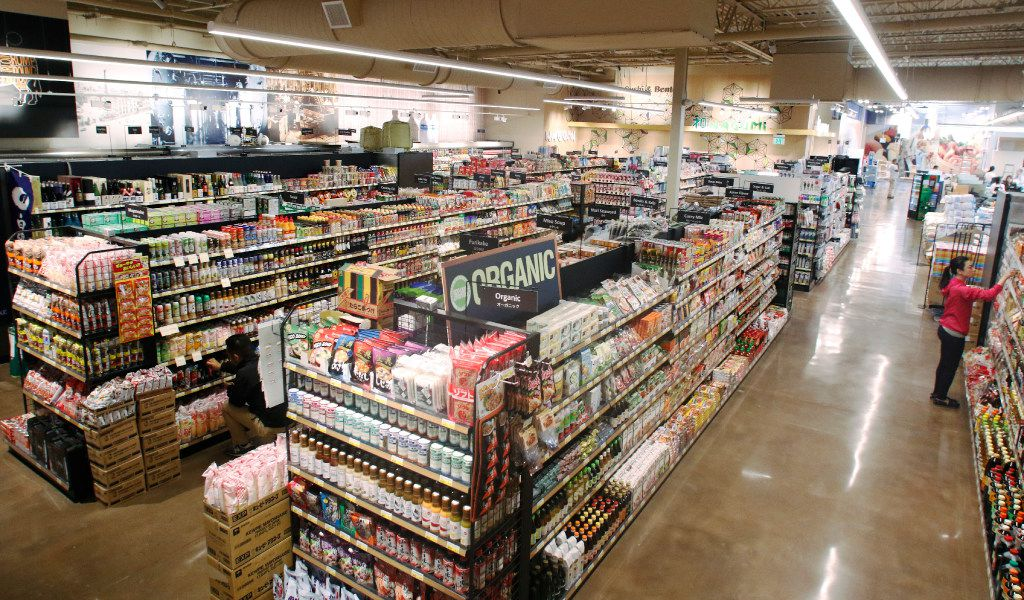 Mitsuwa Marketplace employees prepare for their grand opening on Friday, April 14, 2017 in Plano.  It carries a wide variety of quality Japanese groceries, general items, electric appliances, cosmetics and other products in its stores. They were established in March 1998 and currently have nine stores across the United States: seven in California, one in New Jersey, and one in Chicago. Photo taken on Thursday, April 13, 2017.