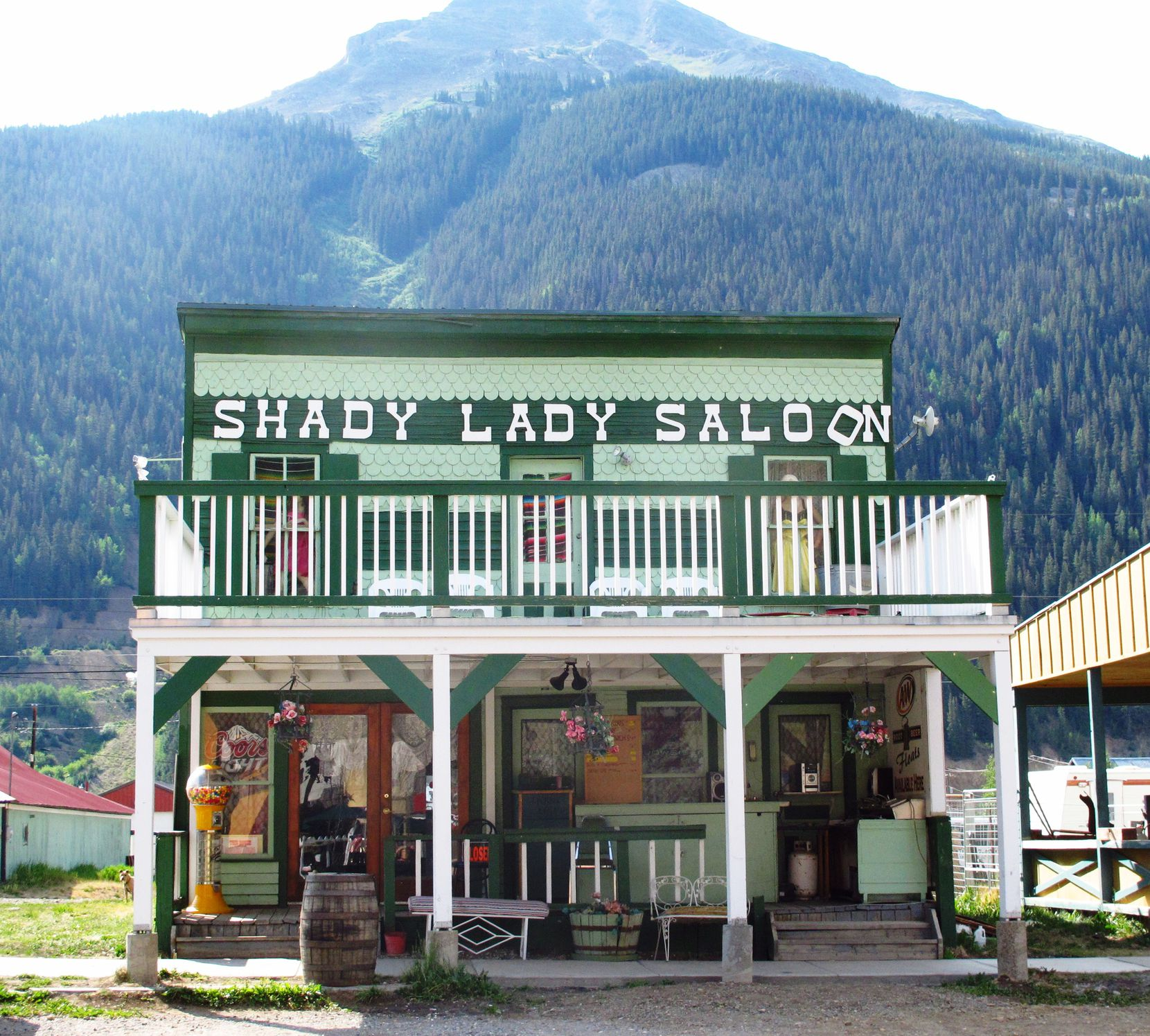 The Shady Lady Saloon is reminiscent of Old West times in Silverton, Colo.
