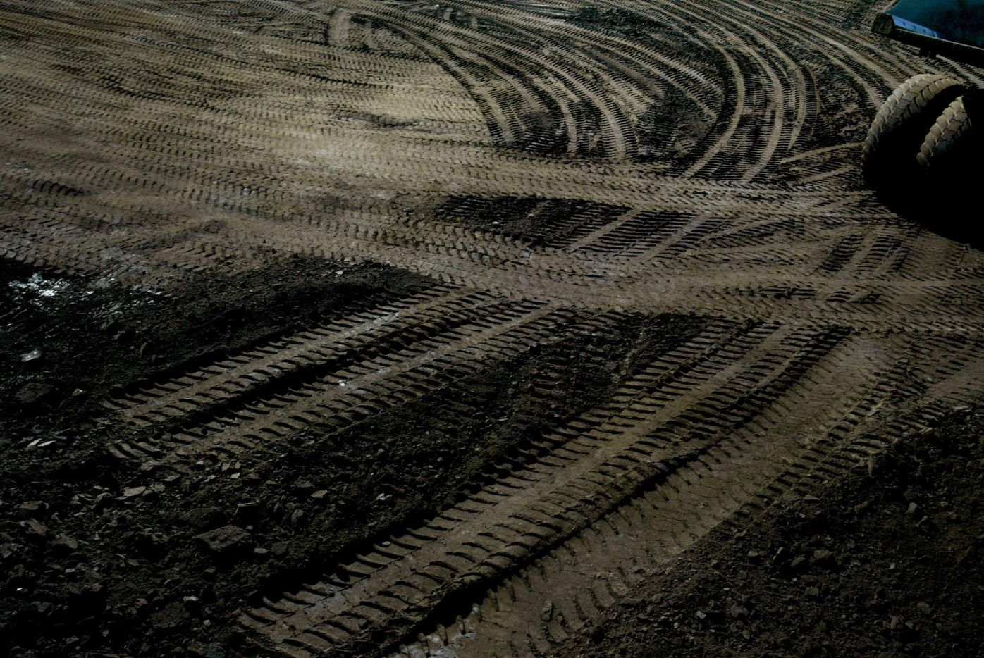 2005 FILE PHOTO -- The tracks of heavy haulers leave their 'footprints' on the landscape in a strip mine owned by Syncrude Canada Ltd. in Alberta.