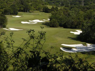Hole no. 10 at Dallas National Golf Course in Dallas, TX May 13, 2016.  (Nathan Hunsinger/The Dallas Morning News)