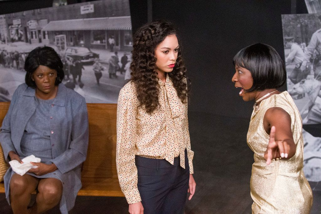 Genine Ware, Alexis Zollicoffer and Ardina Lockhart in Jubilee Theatre's production of the Christina Ham play Nina Simone: Four Women in Fort Worth.