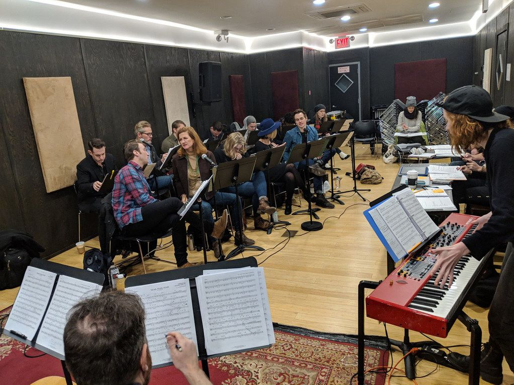 Behind-the-scenes in rehearsals for Oswald, the musical, in a photo taken in March 2019 in New York. Songs from the show were performed on Aug 19, 2019, in New York City.