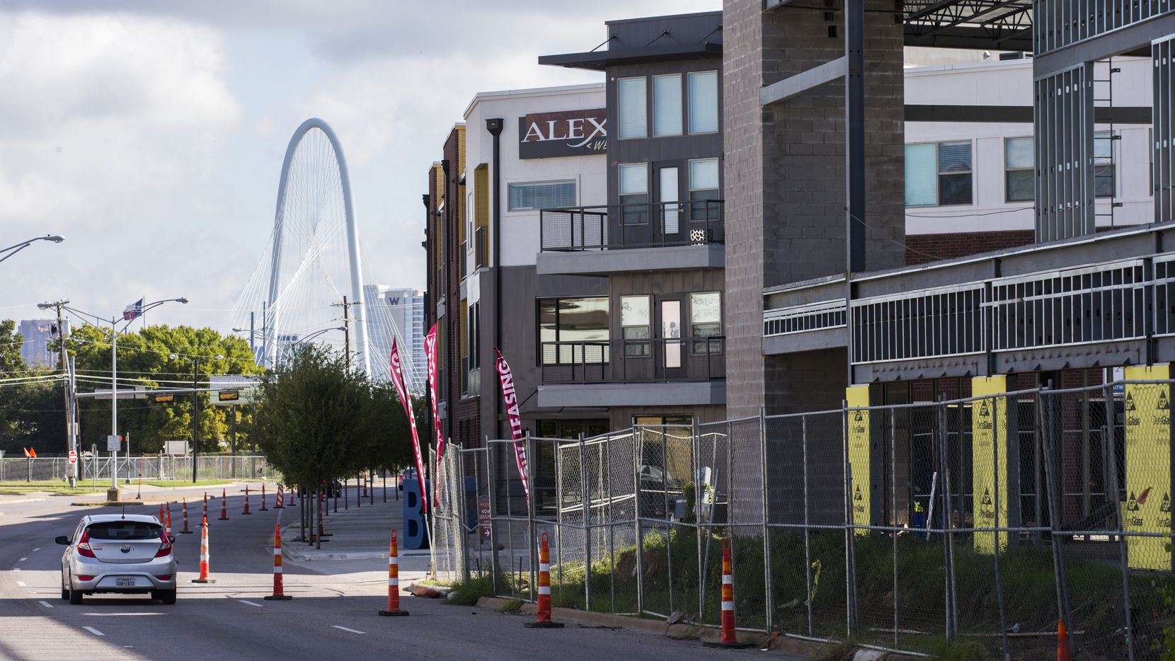 The Alexan West Dallas apartments under construction on on Fort Worth Avenue are already 20 percent leased.