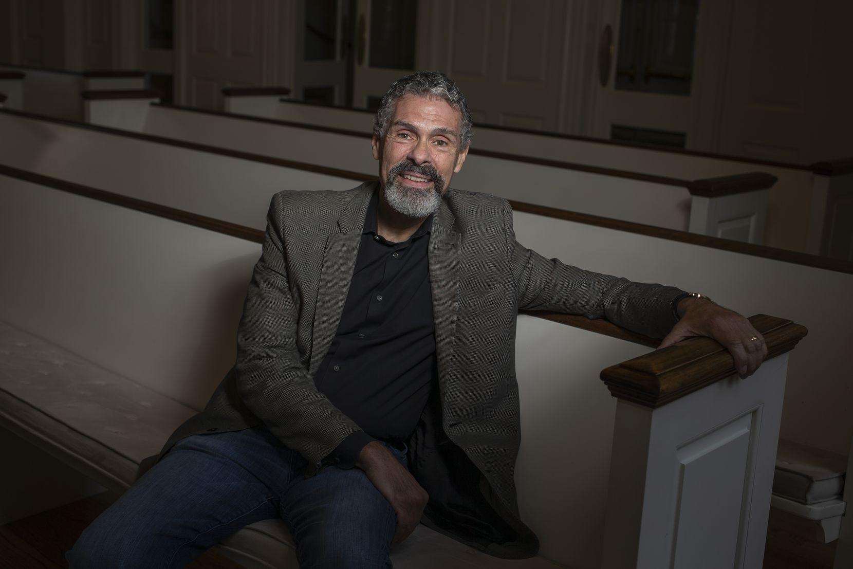 Harold Recinos at the Perkins Chapel at Southern Methodist University in May 2019.