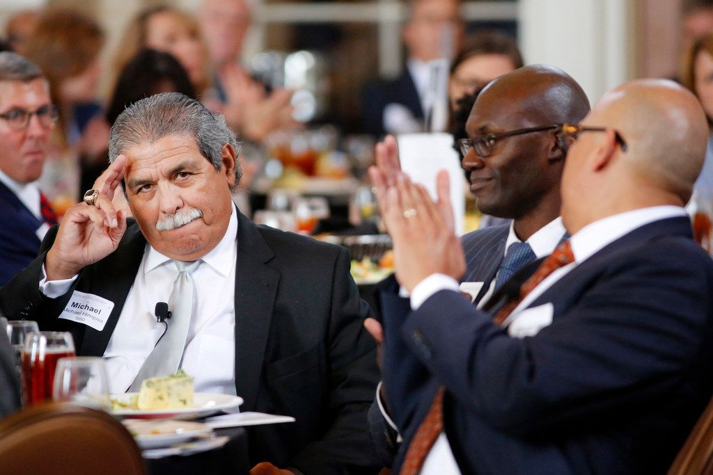 Dallas ISD Superintendent Michael Hinojosa participated in the Dallas Regional Chamber's State of Public Education luncheon on Sept. 20, 2018.