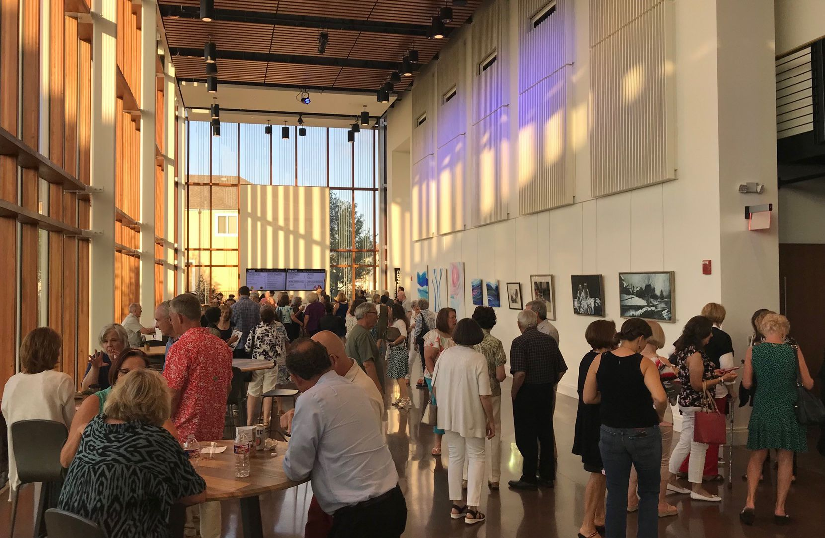The center held an invitation-only event on June 30 that featured the band the Bodarks. The Mr. Cooper art gallery is part of the Coppell Arts Center lobby.