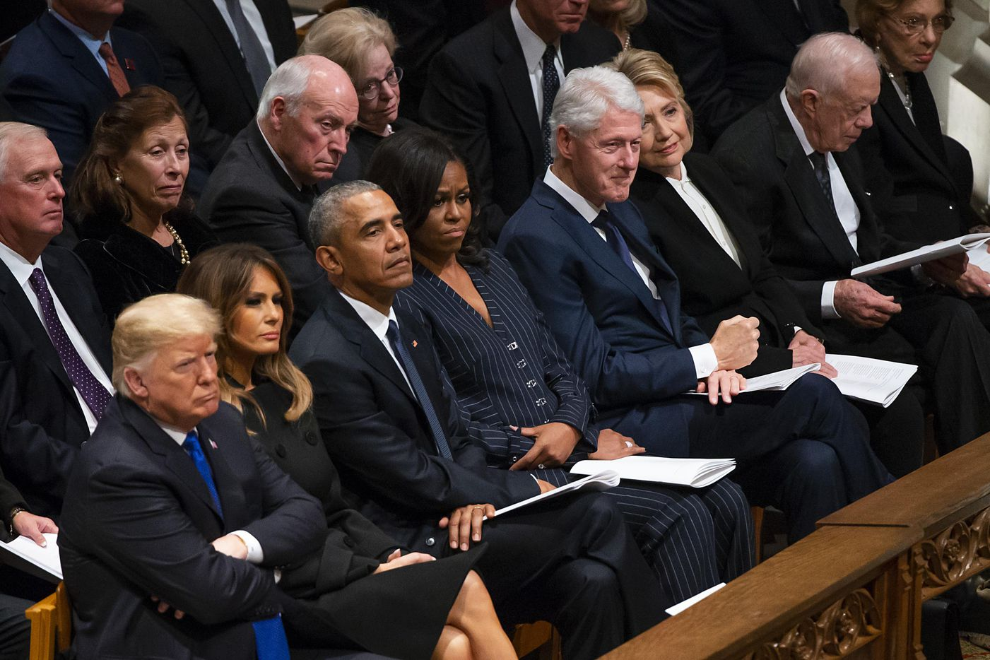 during the State Funeral for George H.W. Bush, the 41st President of the United States, at the Washington National Cathedral on Wednesday, Dec. 5, 2018, in Washington. (Smiley N. Pool/The Dallas Morning News)